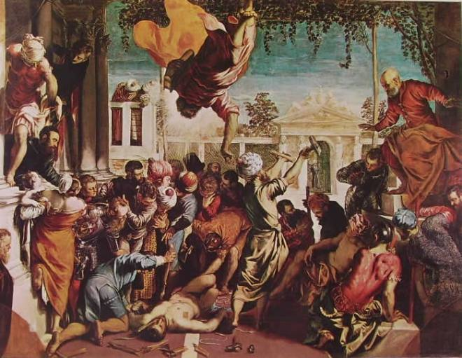 Il Tintoretto: Il miracolo di S. Marco (San Marco libera lo schiavo)