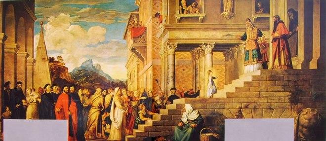 Tiziano: La presentazione di Maria al tempio