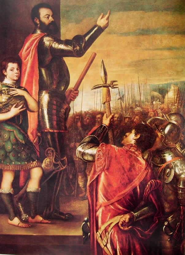 Tiziano: Allocuzione di Alfonso d'Avalos
