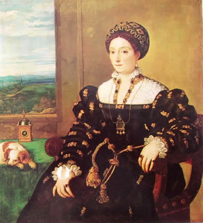Ritratto di Eleonora Gonzaga, cm. 102,2, Uffizi, Firenze.