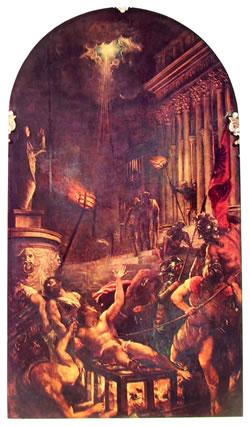 Il martirio di San Lorenzo, cm. 280, Chiesa dei Gesuiti, Venezia.