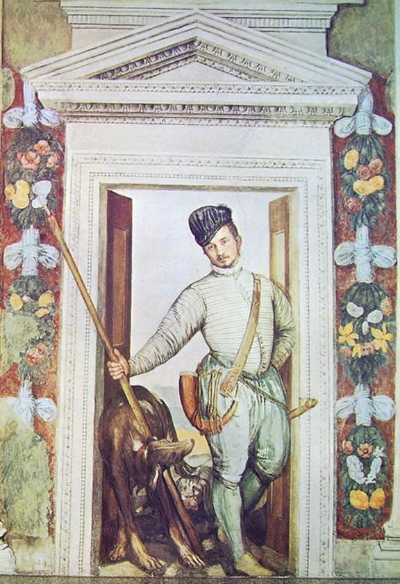 Il Veronese: Affreschi di Maser - Ultima stanza con finta porta