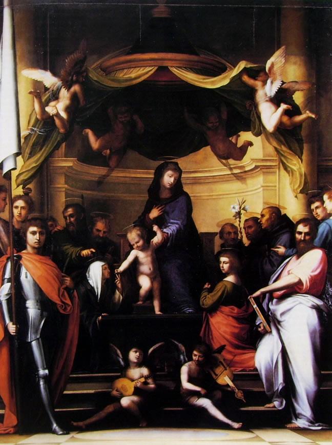 Fra' Bartolomeo: Sacra Conversazione, o Matrimonio mistico di Santa Caterina (Pala Pitti)