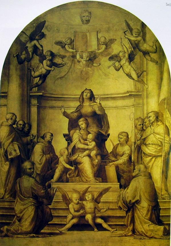 Fra' Bartolomeo: Madonna col Bambino, Sant'Anna e i santi protettori di Firenze (Pala della Signoria)