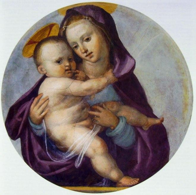 Madonna col Bambino (diametro 64 cm.) di Fra' Bartolomeo