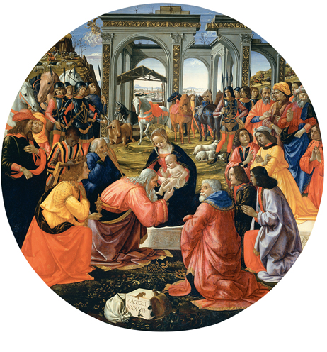 Domenico Ghirlandaio: Adorazione dei Magi Tornabuoni