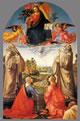 Cristo in gloria con quattro santi e un committente