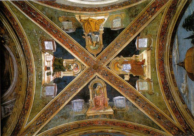 Pinturicchio: Cappella Baglioni - La volta con le sibille