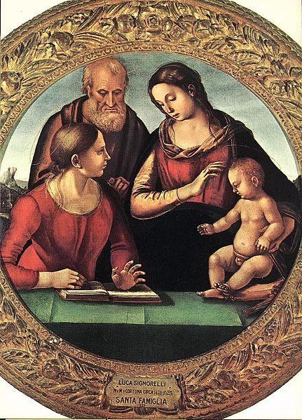 Luca Signorelli: Sacra Famiglia con una santa