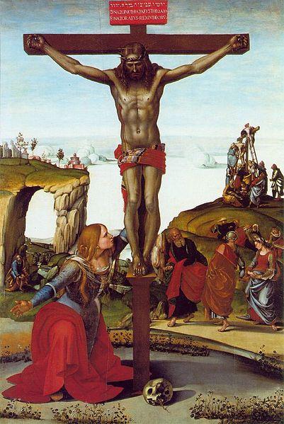 Luca Signorelli: Crocifisso con la Maddalena