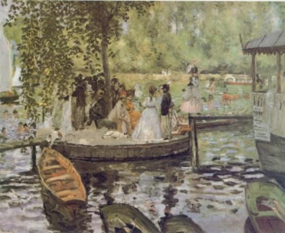 Renoir: La Grenouillère 59 x 80 anno 1868