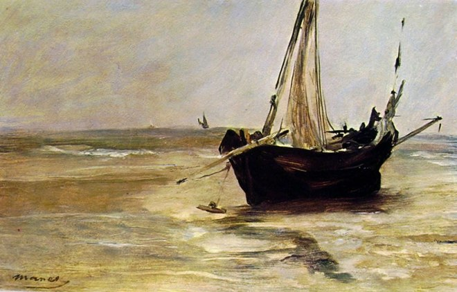 Edouard Manet: Il battello nero a Berk