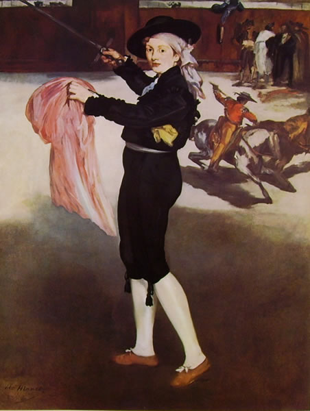 Edouard Manet: Victorine Meurent in costume di Espada,