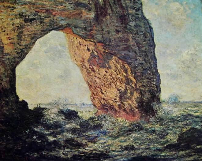Claude Monet: La Manneporte a Etretat