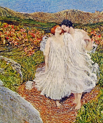 Giovanni Segantini: Particolare dell'amore alle fonti della vita