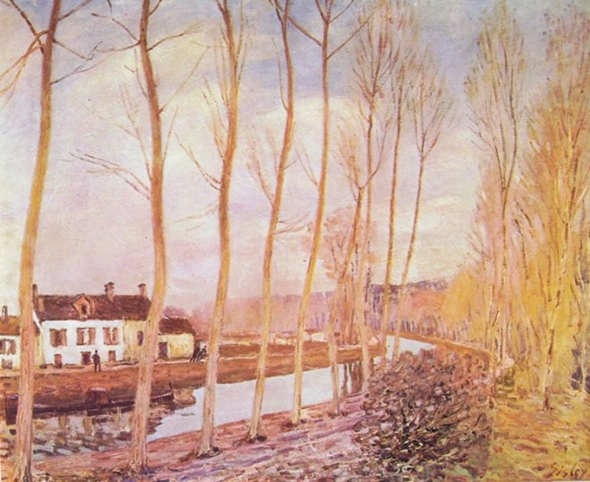 Alfred Sisley: Il canale del Loing