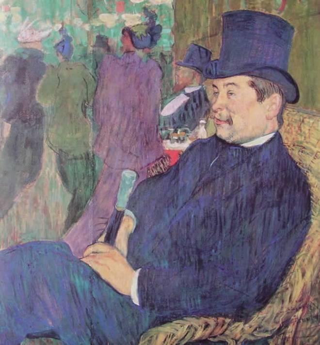 Toulouse-Lautrec: Leon Delaporte al Jardin de Paris