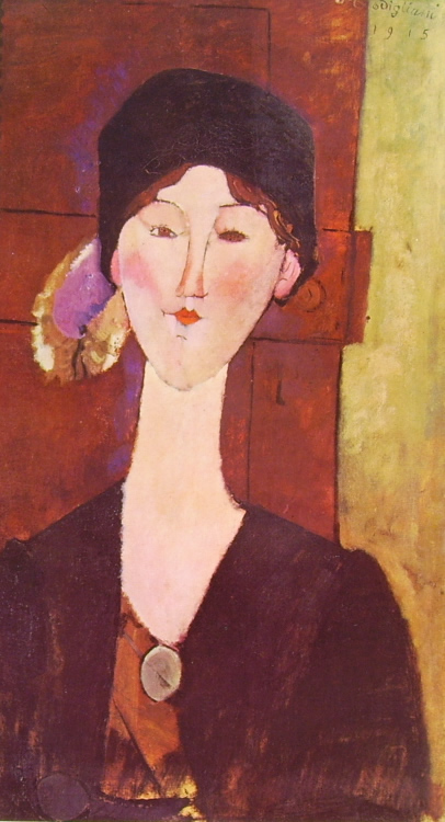 Amedeo Modigliani: Beatrice Hastings davanti a una porta