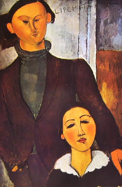 Amedeo Modigliani: Jacques Lipchitz e la moglie