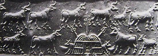 Il calco del sigillo paleosumerico