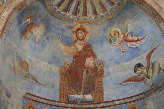 Il Cristo Pantocratore, basilica benedettina Sant'Angelo in Formis
