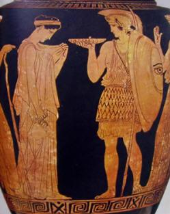 Pittore di Cleofonte: Samno con la partenza del guerriero