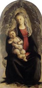 Botticelli madonna in gloria di serafini