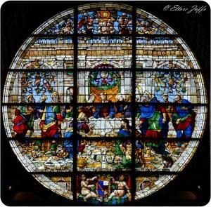 Rosone della facciata del Duomo di Siena