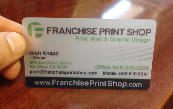 Business Card Printing - Franchise Print Shop Pacific Beach San Diego - name card example