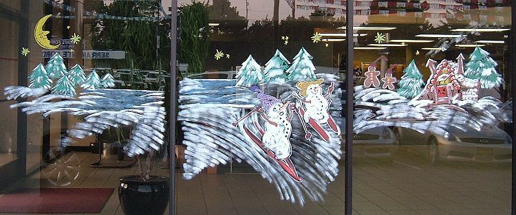 The Holiday Window Painting Art Gallery of Franis Engel