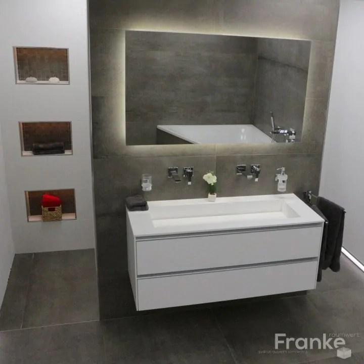 Neues aus der Welt der Fliesen Betonoptik im XXL-Format Franke - badezimmer leisten