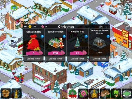 The Simpsons Tapped Out ! Noel
