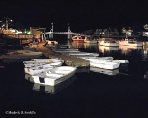 Perkins Cove Drawbridge At Night