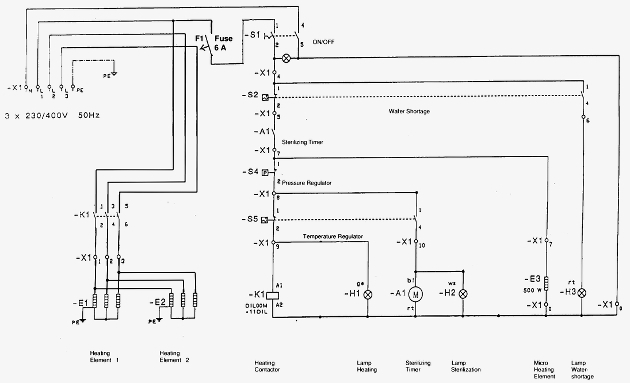 Three Phase Heater Wiring Diagram Electronic Schematics collections