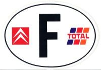 Magnetic sticker 'F' like France, with logos Citroen and ...