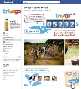 trivago charity: water