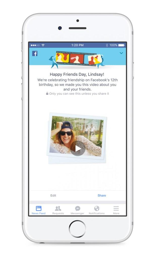 #friendsday facebook