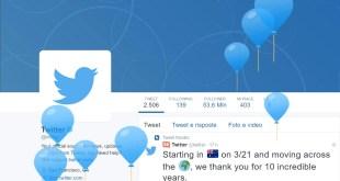 twitter compie dieci anni