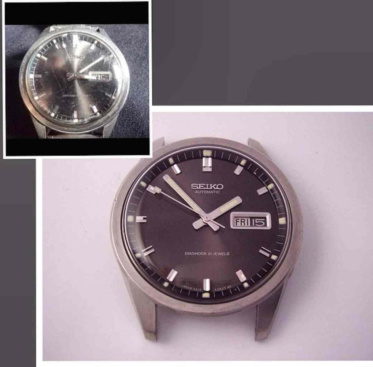 Seiko Sportsmatic before and after