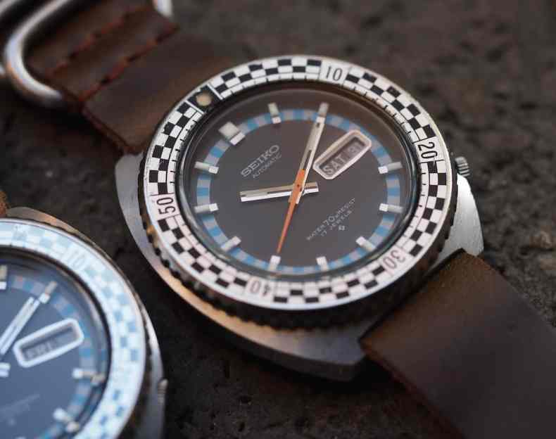 Seiko Rally Diver applied indices
