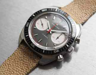 Hamilton Chrono-Diver lovely white hands