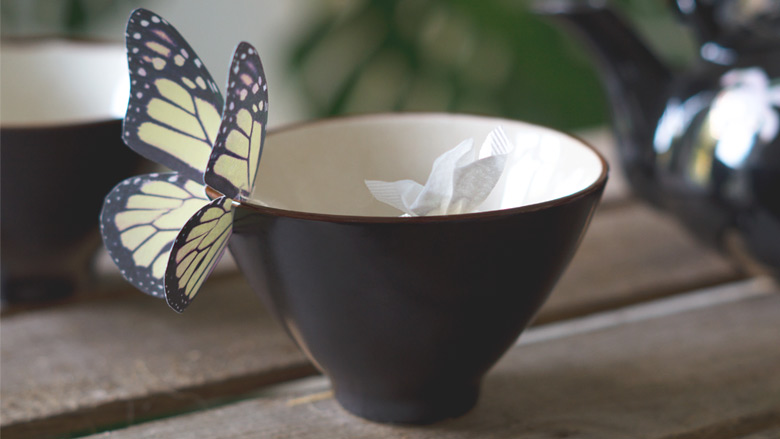 Butterfly Teabag Holder Do It Yourself by fraumau 1