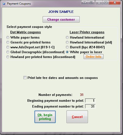 Getting Started \u003e Forms Printing \u003e Payment Coupons - Coupon Book Printing