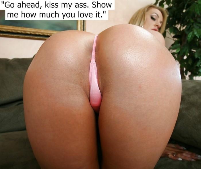Accept. kiss my ass slave very