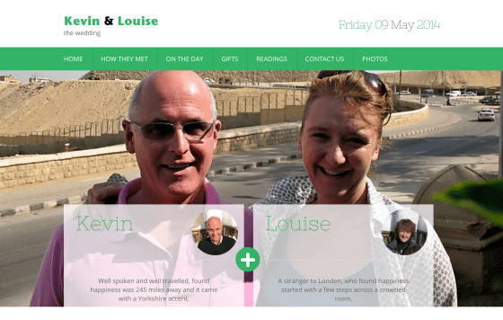 Kevin and Louise – Wedding Website