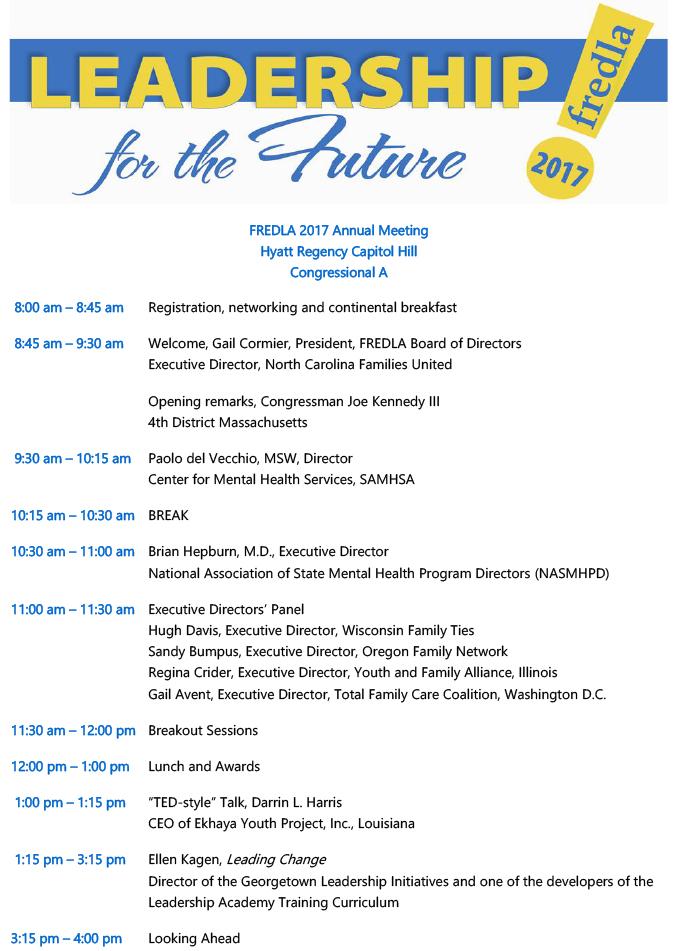 FREDLA\u0027s 2017 Annual Meeting Agenda FREDLA