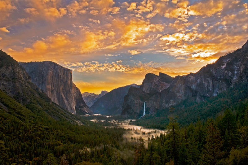 Fall Mountains In The Sun Wallpaper Tunnel View Sunrise Yosemite National Park Fred Mertz