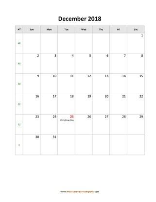 December 2018 Free Calendar Tempplate Free-calendar-template