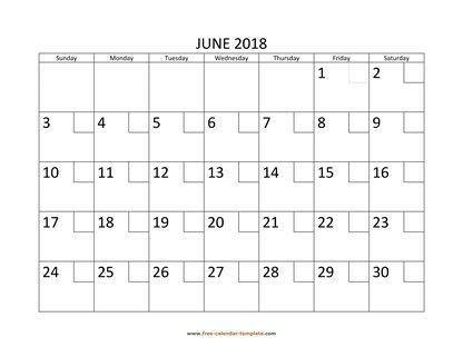 June 2018 Free Calendar Tempplate Free-calendar-template