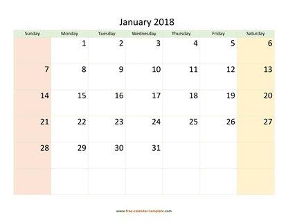 Monthly 2018 Calendar 4 months per page (vertical) Free-calendar